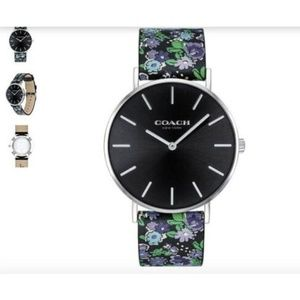 NWT Coach Perry Watch Multi Floral Leather Band